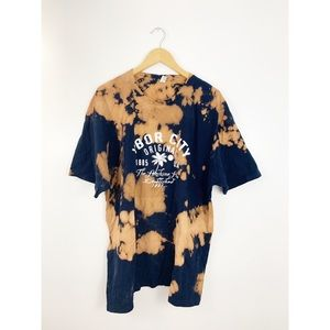 Tops - Ybor City Bleach Tie Dye Upcycled Graphic T Shirt